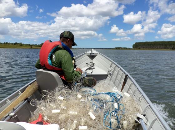 Pescado e apetrechos de pesca são apreendidos em operação