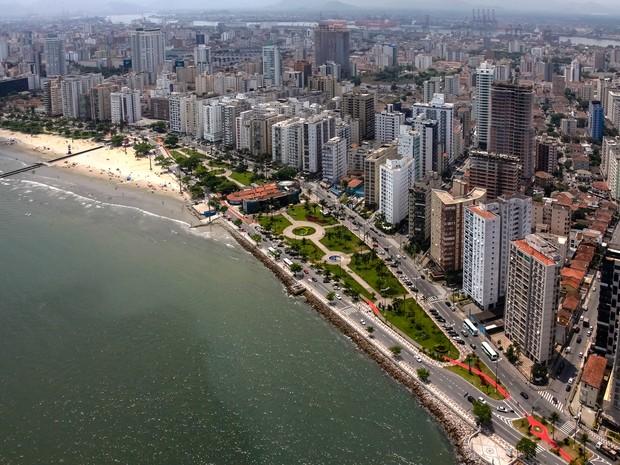 Estudo aponta que nível do mar deve subir 36 cm no litoral de SP
