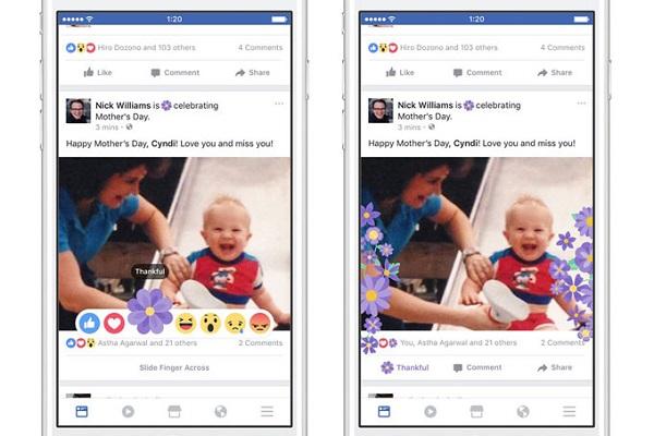 Facebook lança botão Gratidão e recursos especiais para Dia das Mães