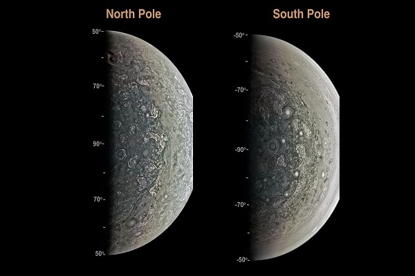 Nasa descobre ciclones do tamanho da Terra nos polos de Júpiter