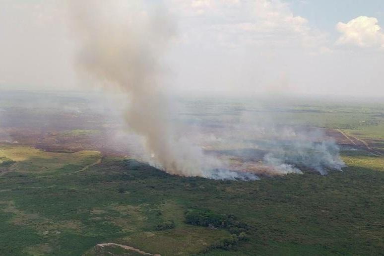 Cerca de mil hectares foram consumidos pelo fogo no Sesc Pantanal
