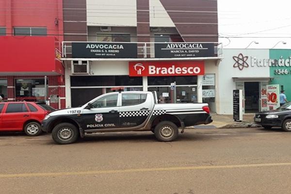 Bandidos invadem agência e furtam R$ 65 mil do Banco Bradesco em Juína