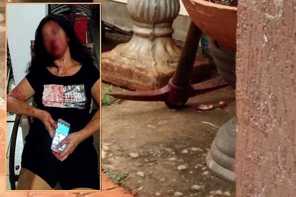 Bandidos usam picareta para agredir moradores que ficam gravemente feridos em roubo