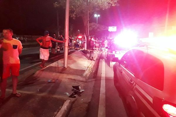 Vendedor de frutas e verduras morre atropelado por carro de luxo em Cuiab