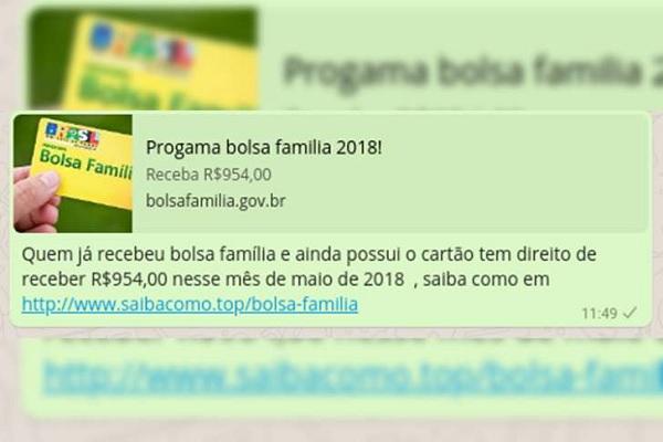 Golpe do Bolsa Família no WhatsApp afeta mais de 600 mil pessoas