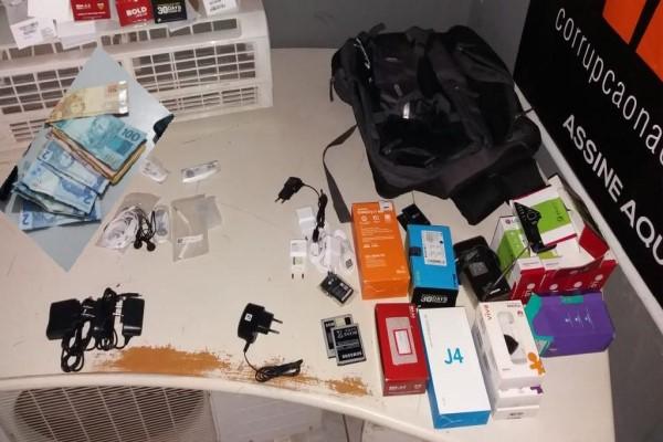 Dois são presos em flagrante por assalto e 16 celulares recuperados em Nobres