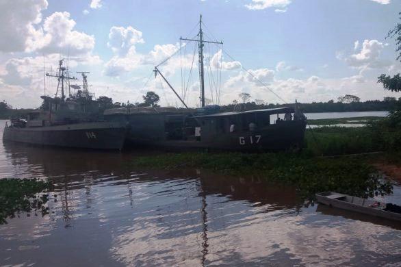 Baixo volume de água no rio Paraguai compromete operações da Marinha em Cáceres