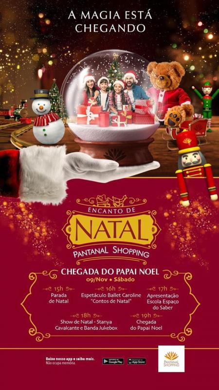 A magia do Natal chega ao Pantanal Shopping