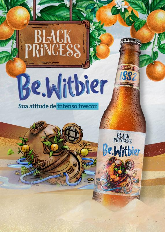 BLACK PRINCESS LANÇA NOVO RÓTULO: BE.WITBIER